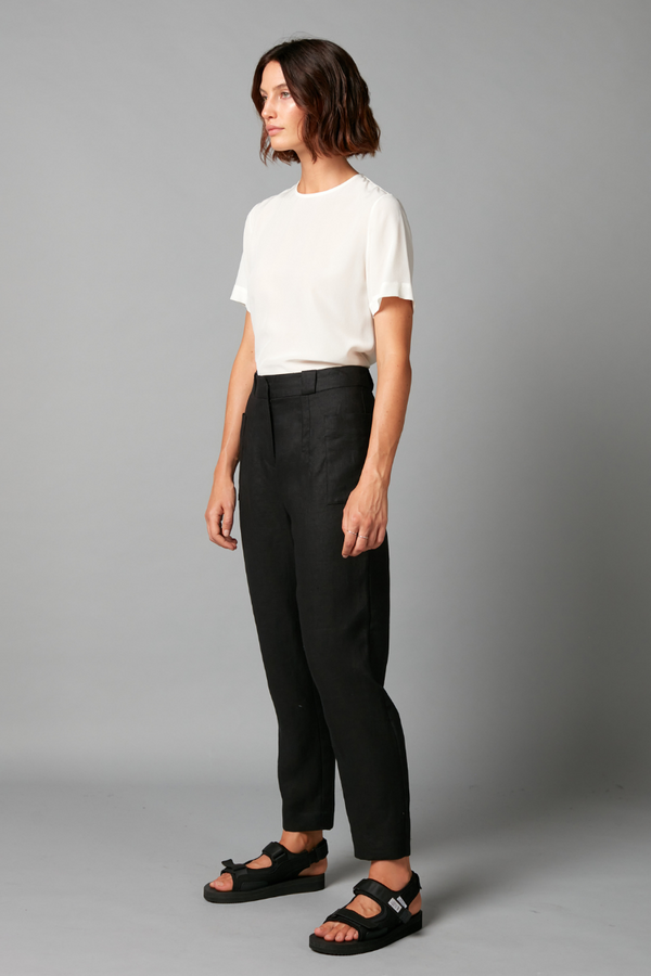 Black Ruma Linen Pants