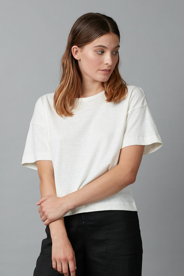 OFF WHITE JOBEN HEMP COTTON TEE