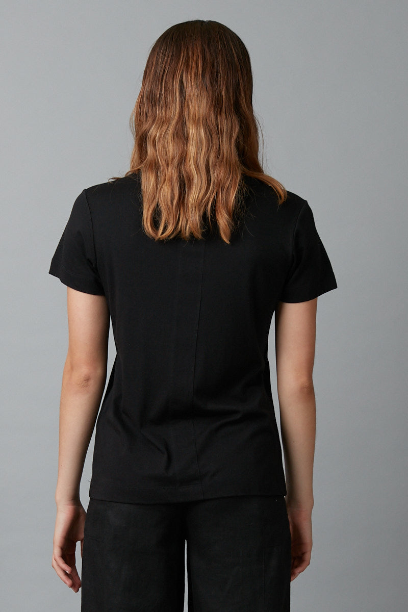 BLACK KANNON MERCERISED COTTON SKINNY TEE
