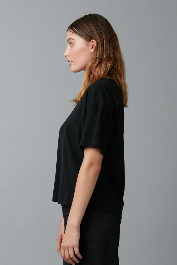 BLACK JOBEN HEMP COTTON TEE