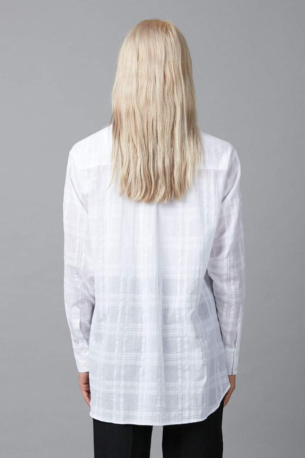 WHITE FUMI COTTON SHIRT - Nique Clothing