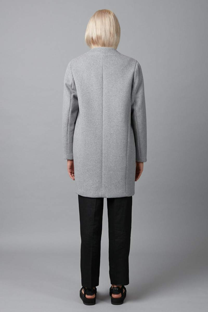 GREY AIYA WOOL BLEND COAT - Nique Clothing