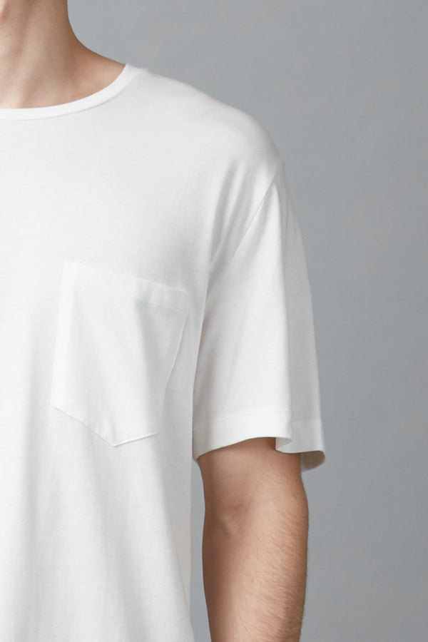 White Wolfgang Bamboo Cotton Pocket Tee