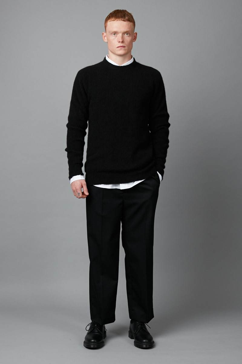 BLACK ROW KNIT - Nique Clothing