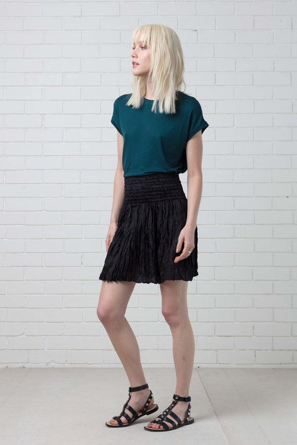 BLACK AKIKO SILK SKIRT - Nique Clothing