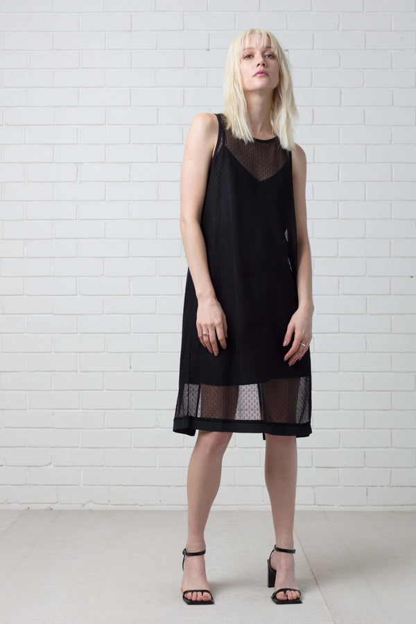 KAMMI OPEN TANK DRESS WITH SLIP