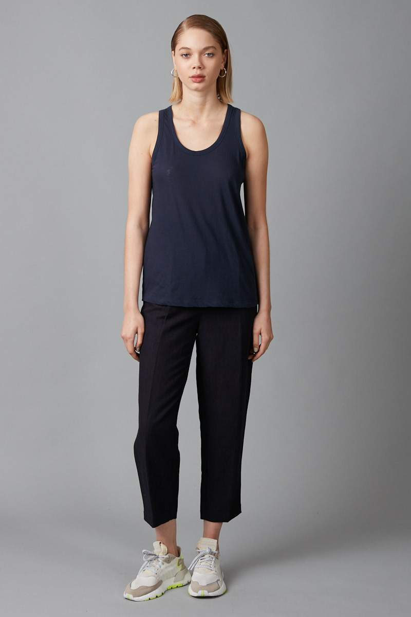 NAVY COTTON KAZOKO TANK