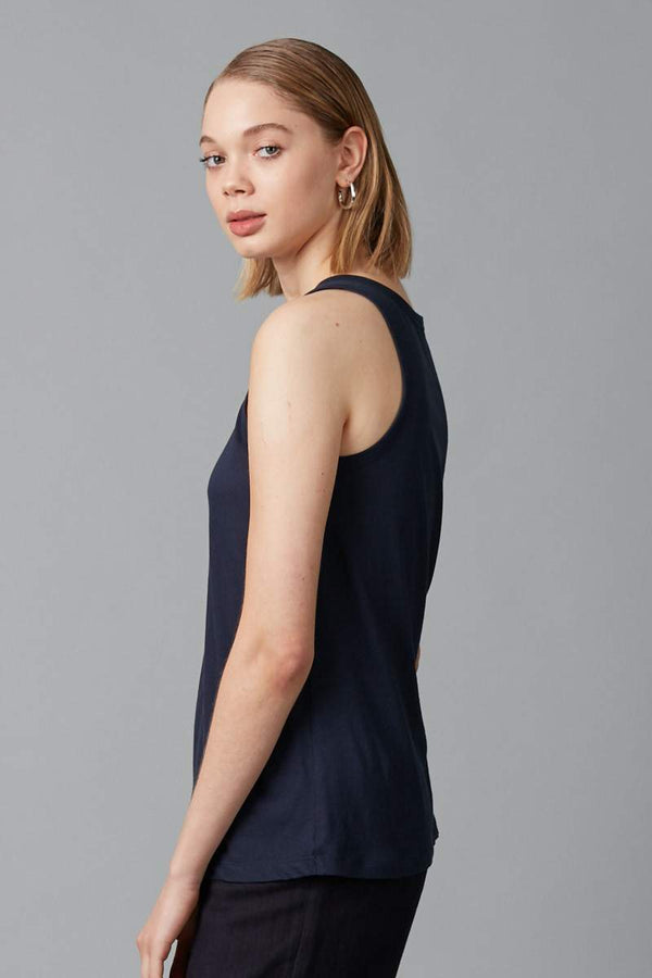 NAVY KAZOKO COTTON TANK