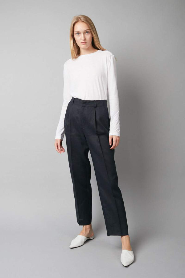 INK SHARP TAILORED LINEN PANTS - Nique Clothing