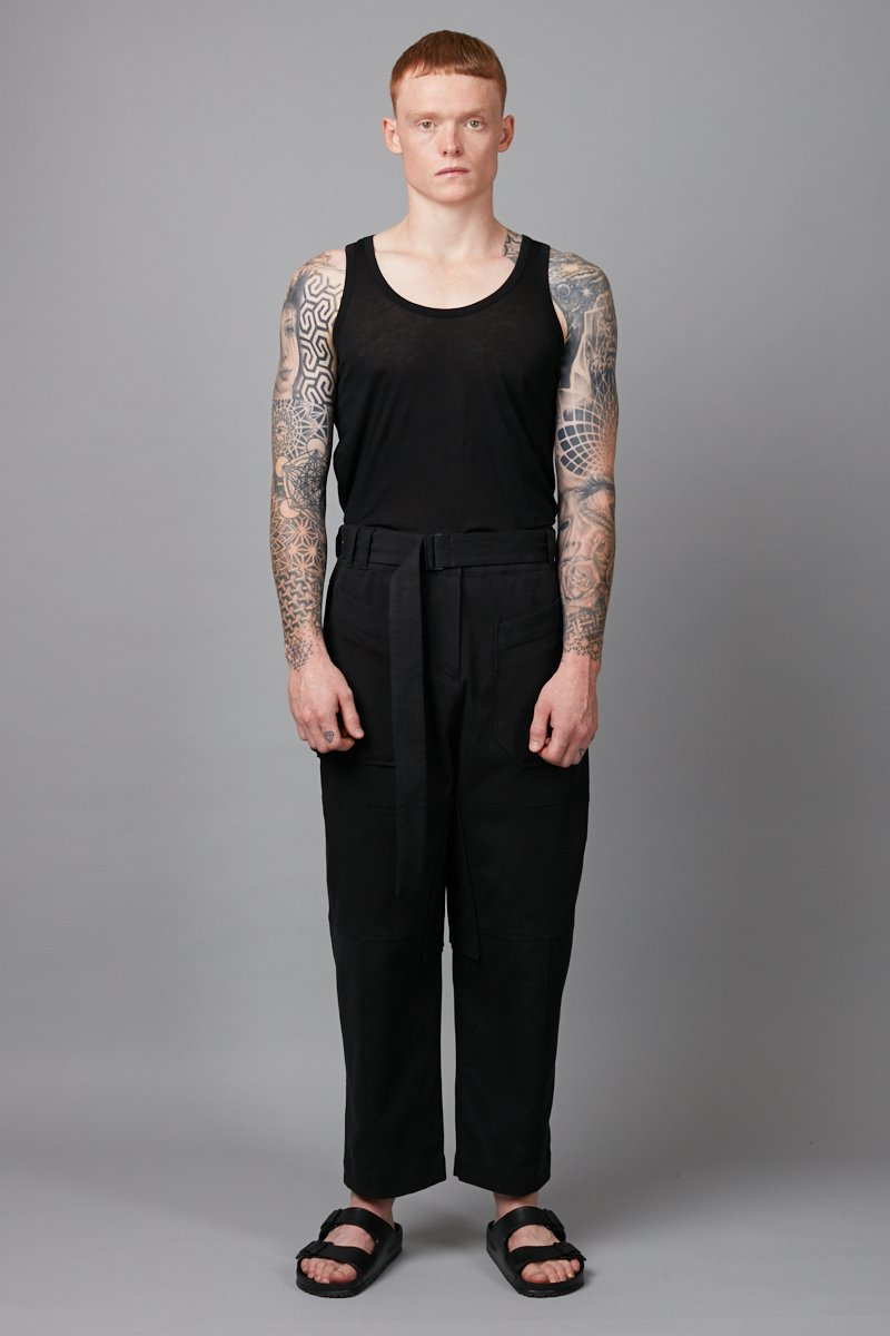 BLACK UNISEX SUUKO COTTON PANT - Nique Clothing