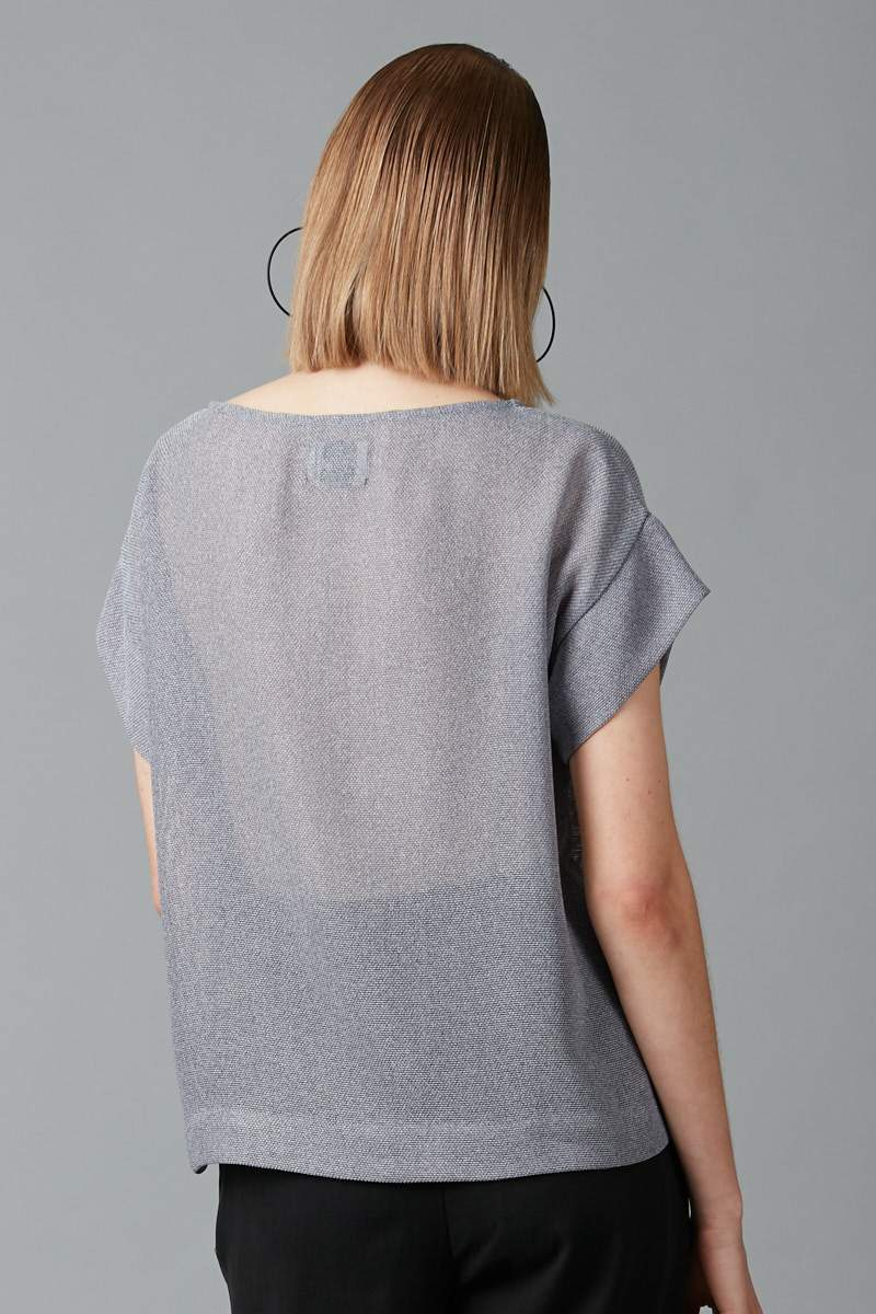 POWDER BLUE COTTON HILO TOP