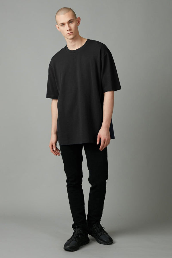 BLACK YOSSHI COTTON OVERSIZED TEE - Nique Clothing