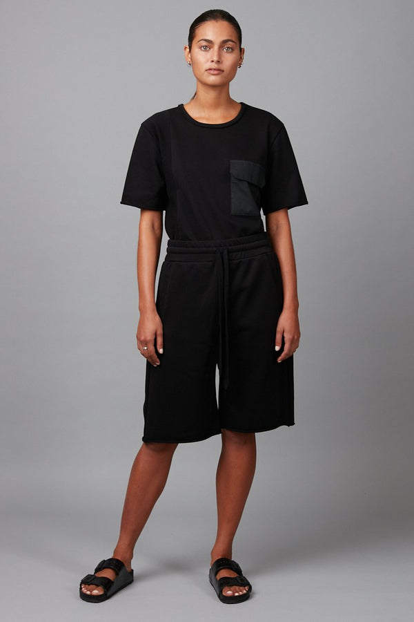 BLACK ELI UNISEX FRENCH TERRY SHORTS - Nique Clothing