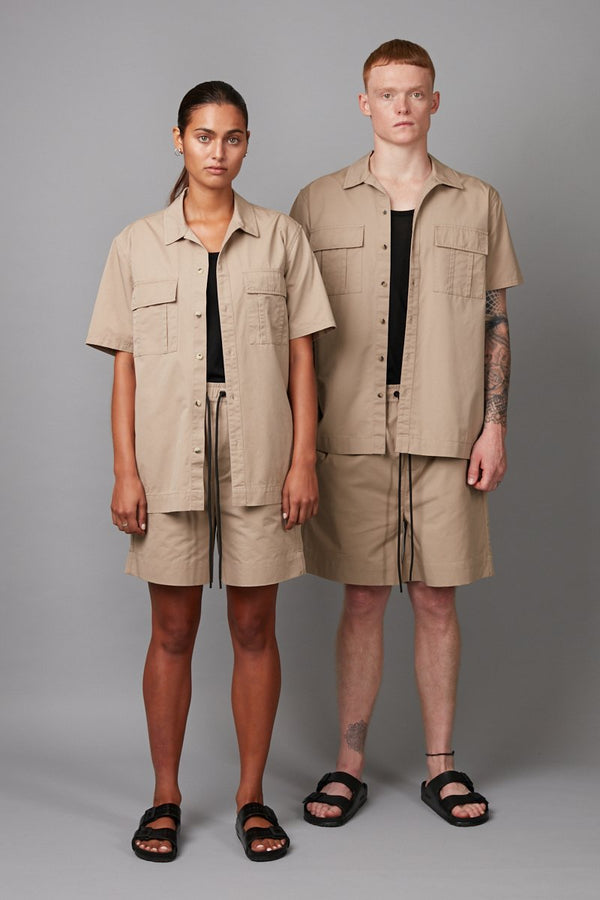 SAND UNISEX ADARP RELAXED SHORT SLEEVE SHIRT - Nique Clothing
