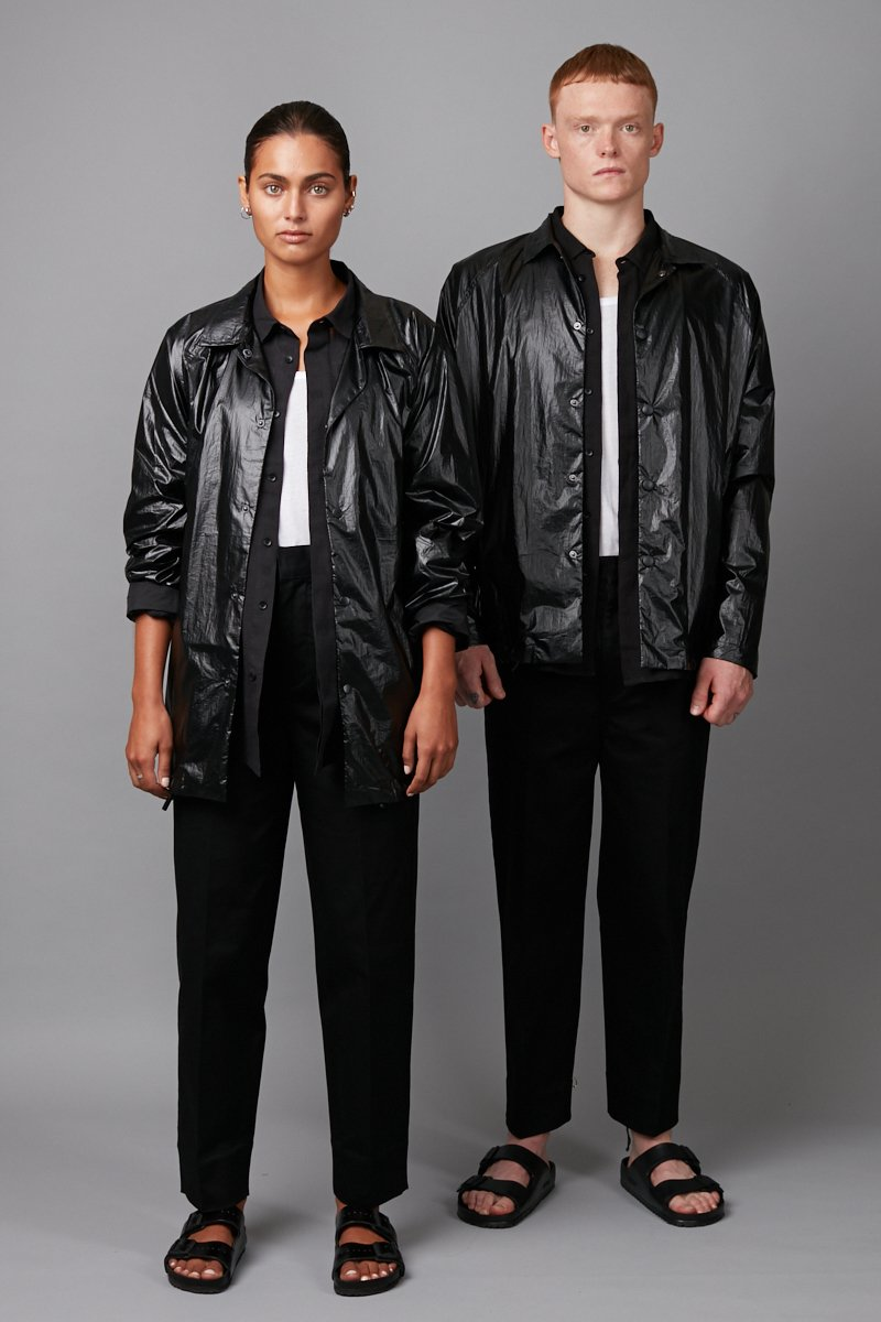 BLACK UNISEX IKIA CLASSIC JACKET - Nique Clothing