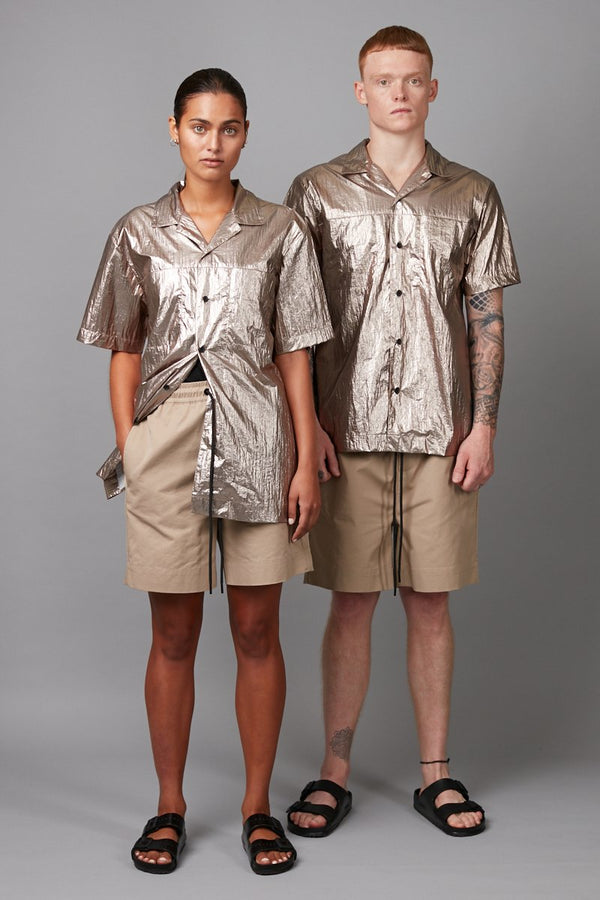BRONZE UNISEX TSAKIU METALLIC SHIRT - Nique Clothing