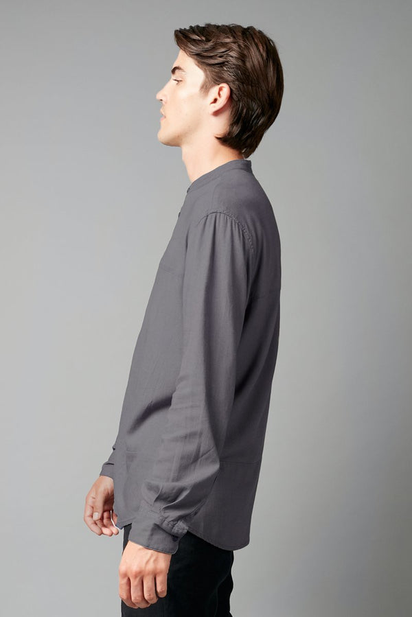 SLATE UBUNTU REGULAR MANDARIN COLLAR SHIRT