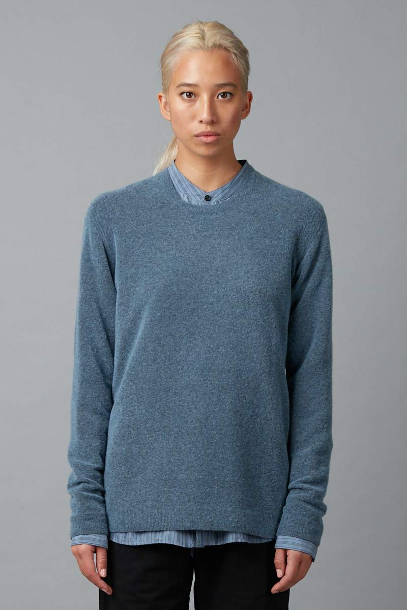 BLUE UNISEX FURBY WOOL BLEND KNIT - Nique Clothing