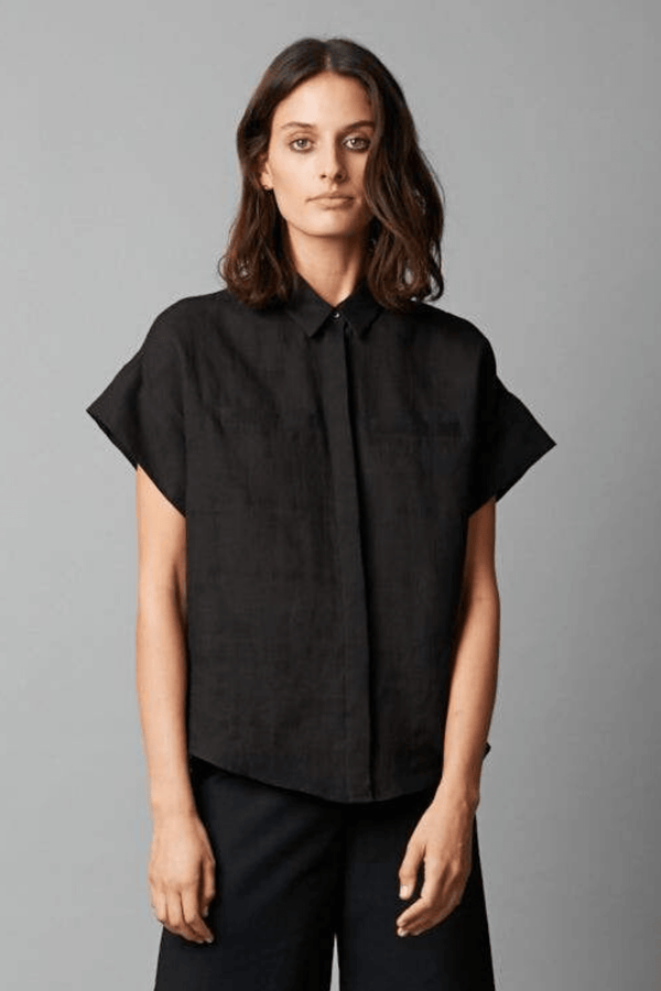 BLACK RAVEN LINEN SHIRT - Nique Clothing