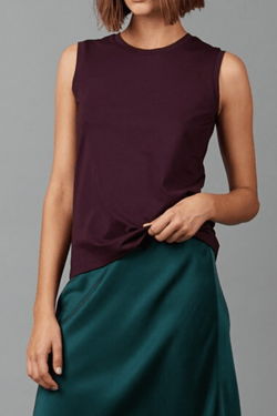 BLACKCURRANT JOMEI COTTON TANK TEE - Nique Clothing