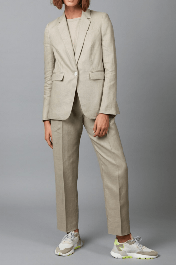 CEMENT MIRO TAILORED LINEN JACKET - Nique Clothing