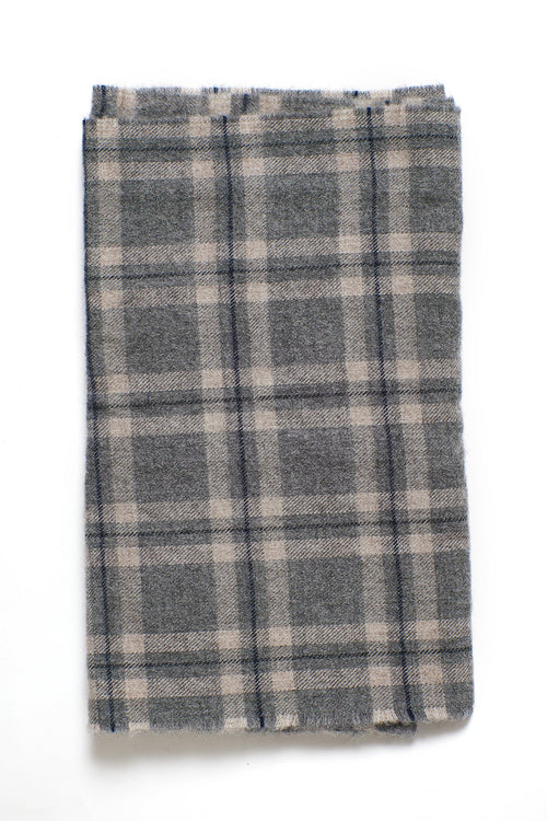 JAMES CHECK MERINO SCARF