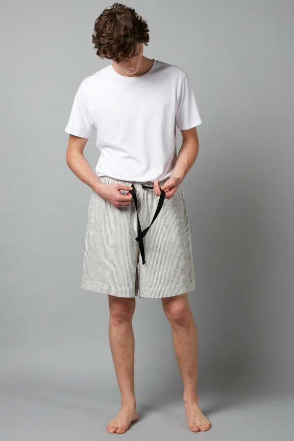 Striped Yasashi Linen Shorts
