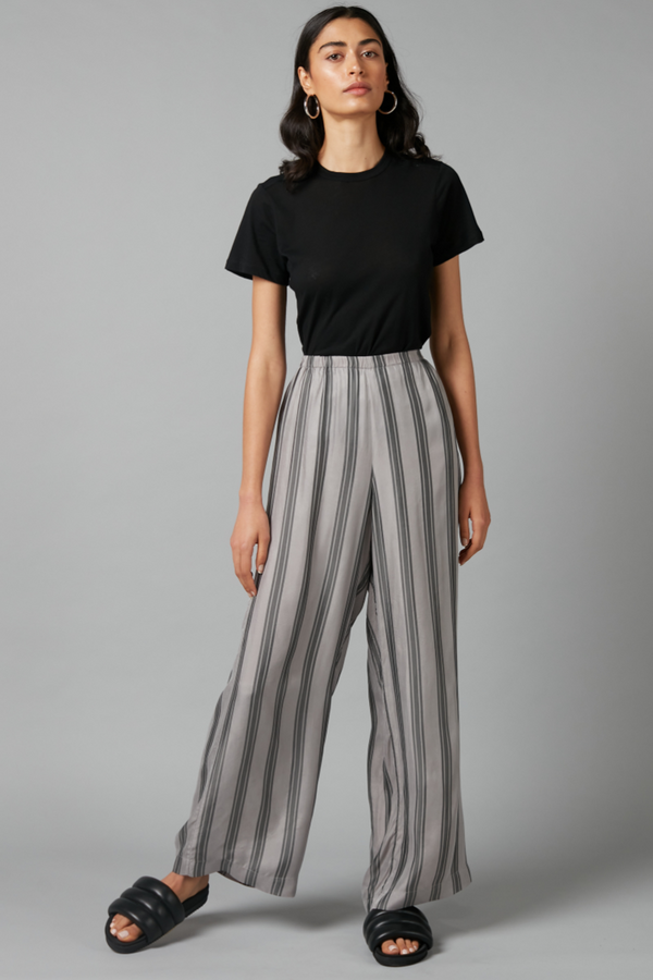 Ash Grey Stripe Escape Pant
