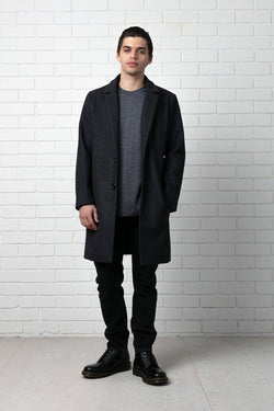 CHARCOAL BAY COAT - Nique Clothing