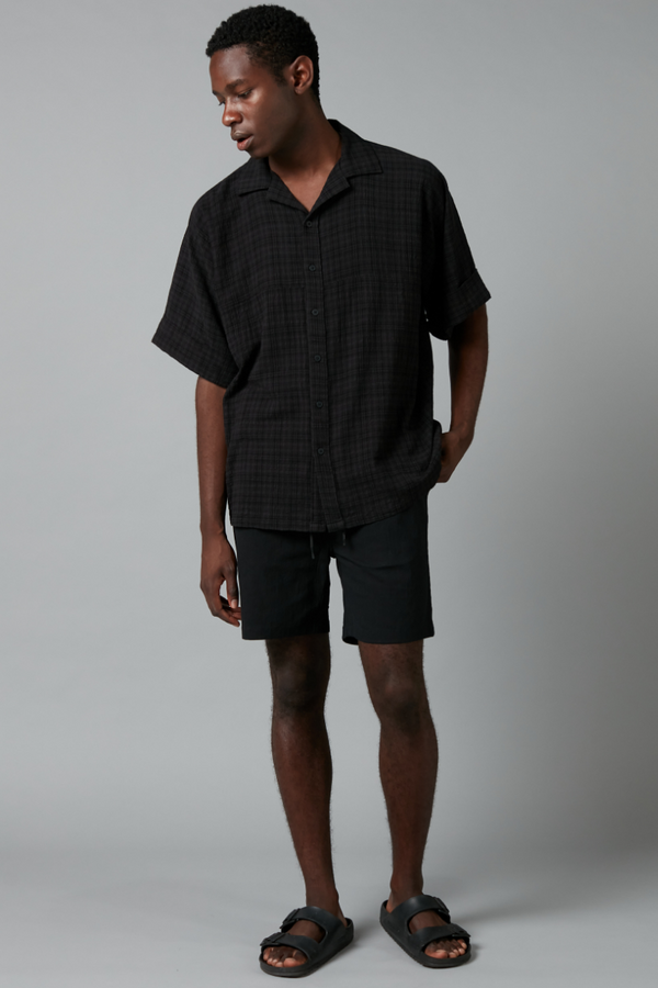 Black Check Zero Waste Shirt