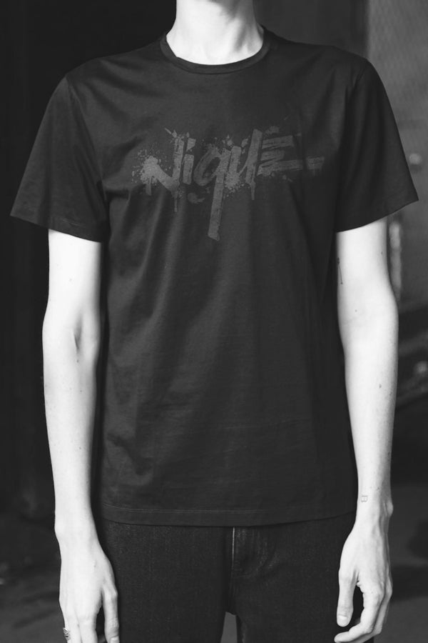 BLACK TAIT NIQUE PRINT TEE - LIMITED EDITION - Nique Clothing