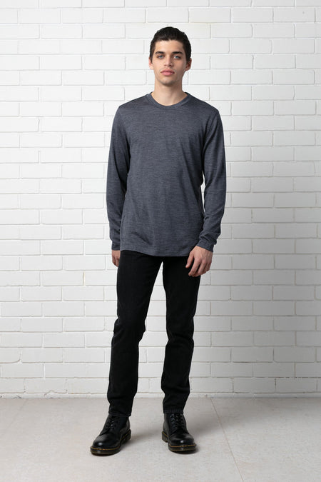 DARK KHAKI TAIT MERCERISED COTTON TEE