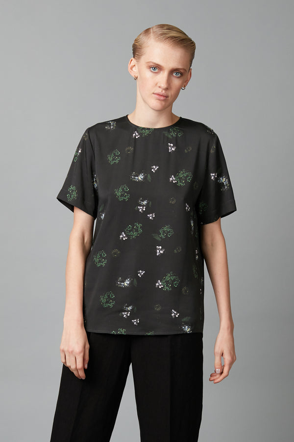 Khaki Floral Chie Viscose Tee