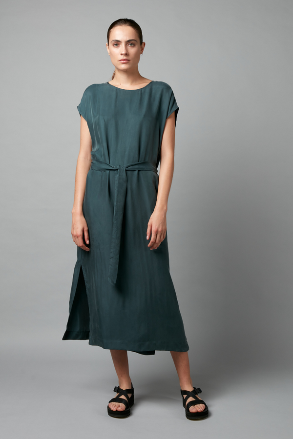 Pine Escape Cupro Viscose Dress