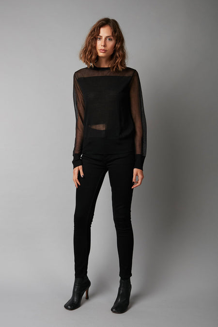 BLACK HACHIRO DRAPED KNIT - LIMITED EDITION