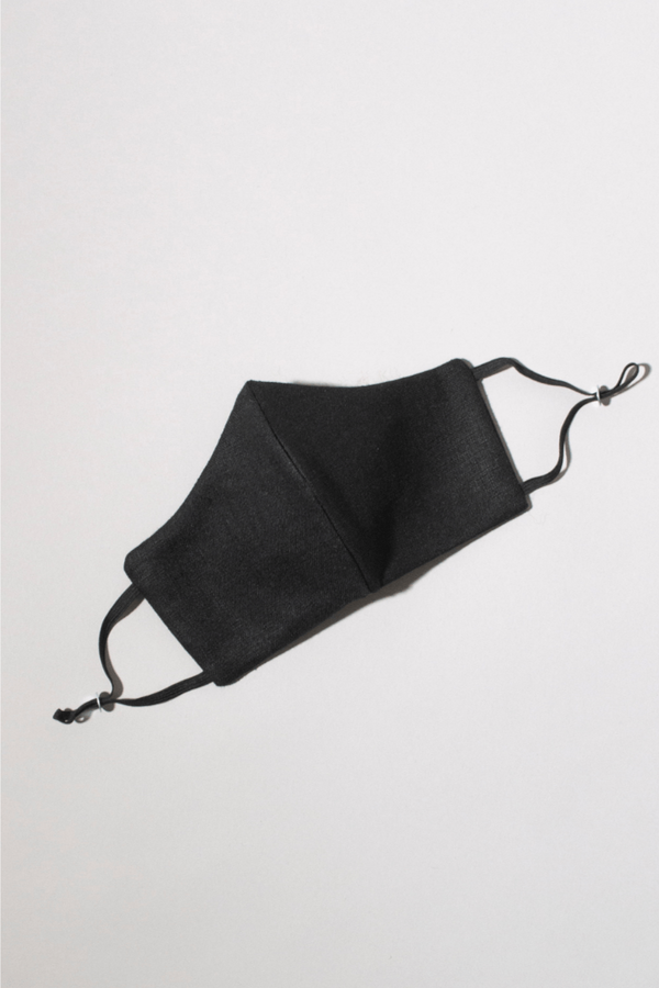 Black Gliese Lyocell Cotton Elastic Face Mask