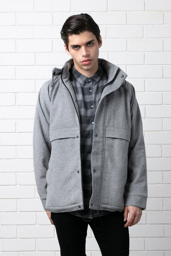 GREY HARU WOOL JACKET - Nique Clothing