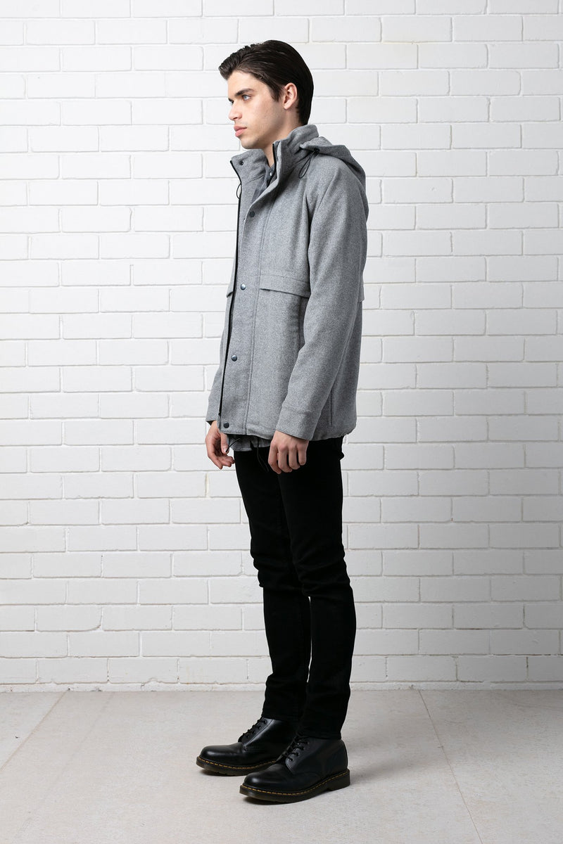 GREY HARU WOOL JACKET