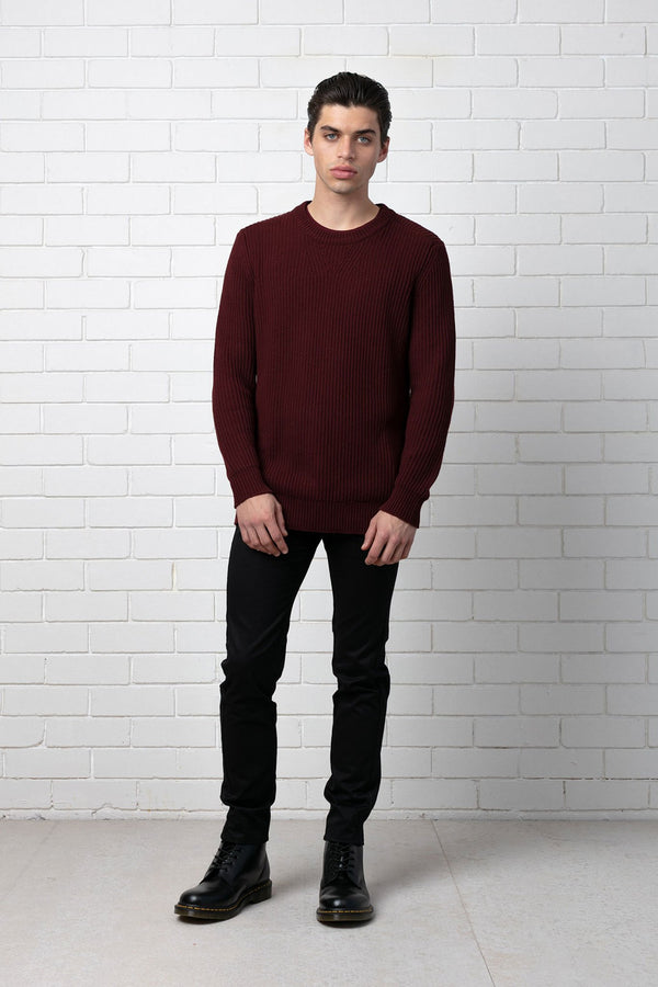 WINE ITO COTTON KNIT
