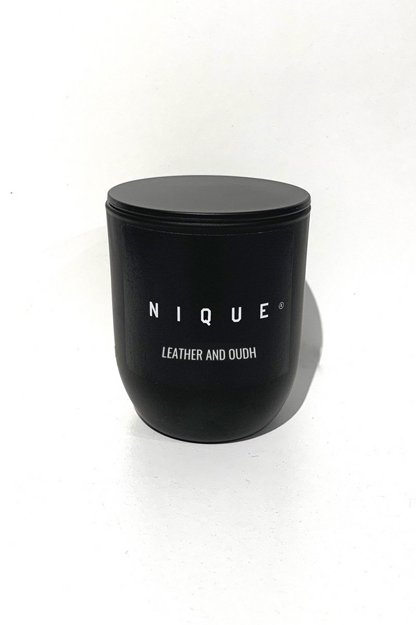 Leather + Oudh Candle - Small