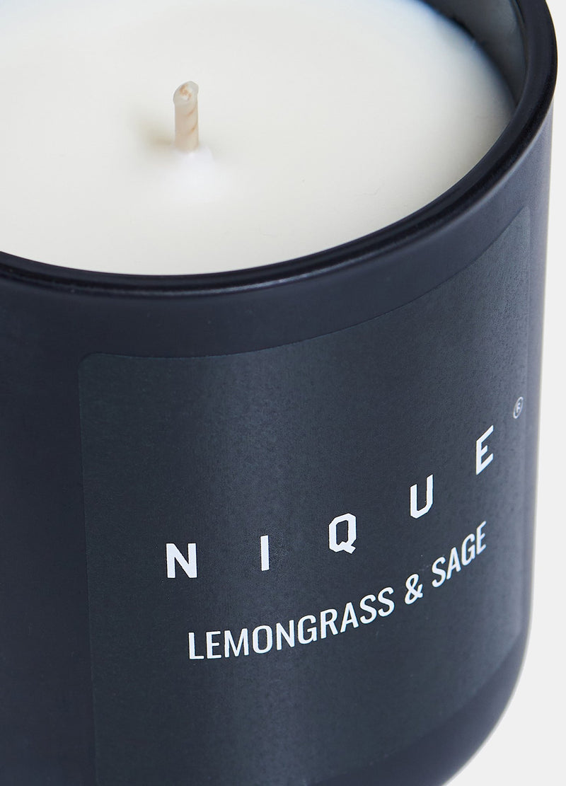 LEMONGRASS AND SAGE SMALL CANDLE - Nique Clothing