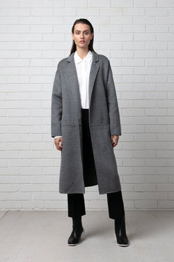 DARK GREY MAAYA COAT - LIMITED EDITION