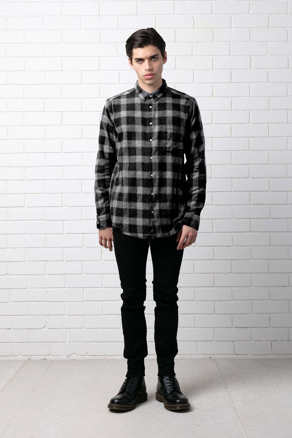 CHECK WESTERN RELAXED SHIRT - Nique Clothing