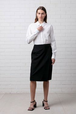 PONTE PENCIL WRAP SKIRT