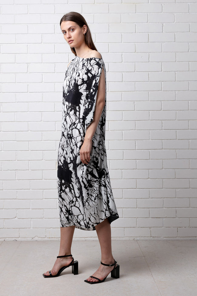 REFORMATION PRINT SILK DRESS