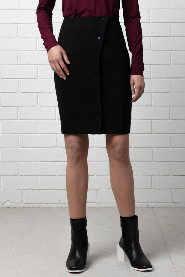 BLACK SCULPTURE TAILORED SKIRT - Nique Clothing