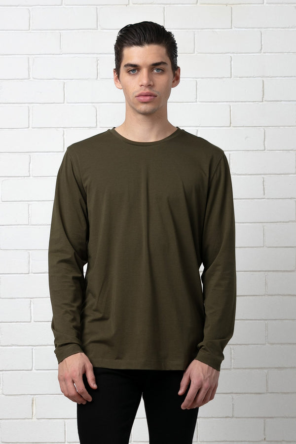 KHAKI SEKEI LONG SLEEVE TEE - Nique Clothing