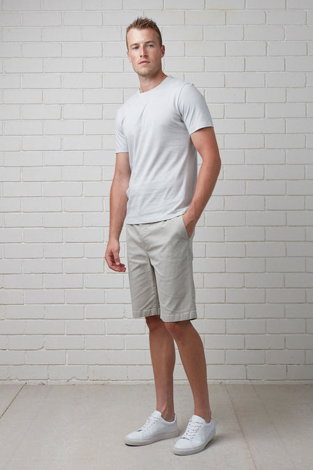 CHECK ELASTICATED WAIST TEE