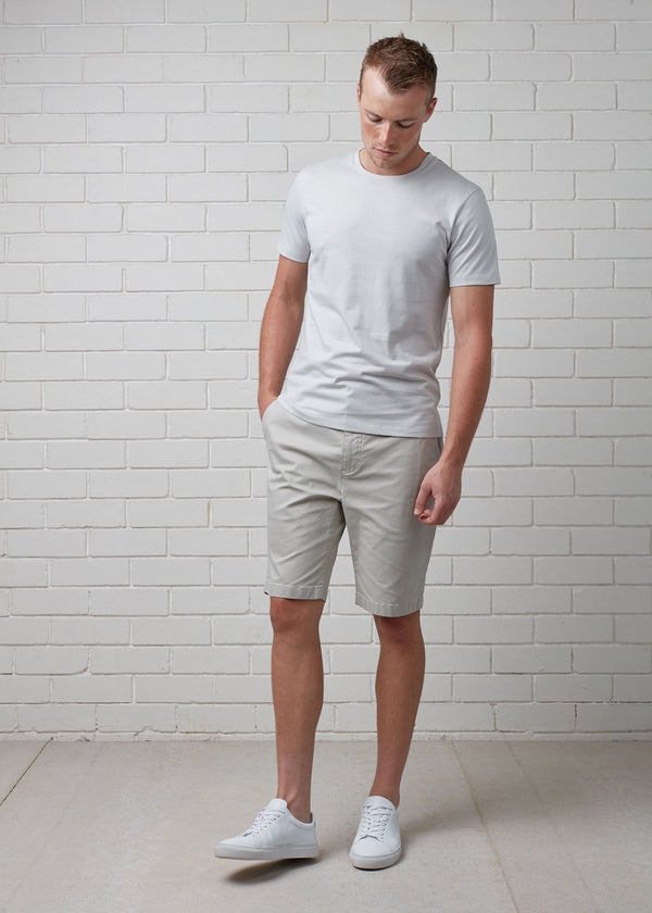 GREY SLIM COTTON MODAL TEE