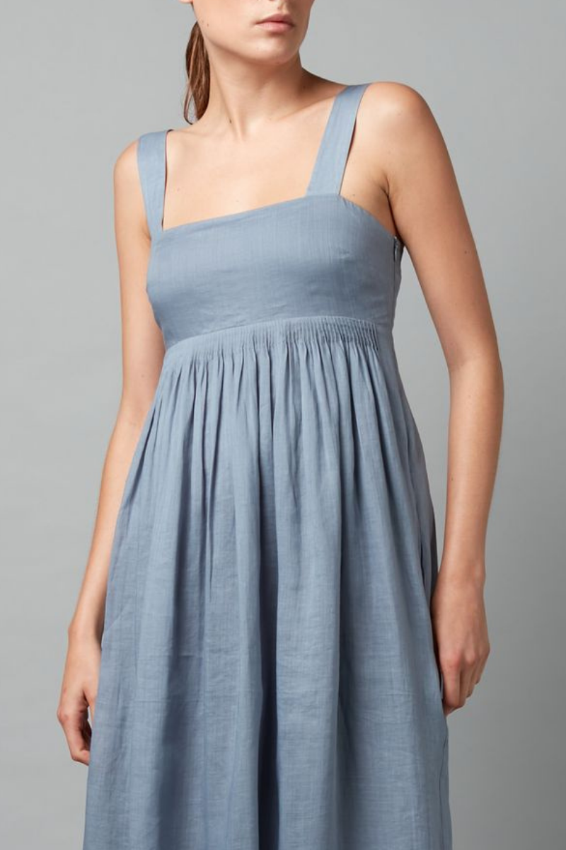 Stillwater Blue Aimie Linen Dress